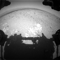 Nasa's Mars rover Curiosity acquired this image using its Front Hazard Avoidance Camera (Front Hazcam) on Sol 385, at drive 468, site number 15