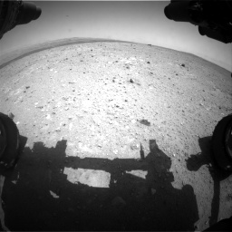 Nasa's Mars rover Curiosity acquired this image using its Front Hazard Avoidance Camera (Front Hazcam) on Sol 385, at drive 504, site number 15