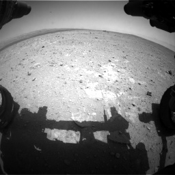 Nasa's Mars rover Curiosity acquired this image using its Front Hazard Avoidance Camera (Front Hazcam) on Sol 385, at drive 540, site number 15