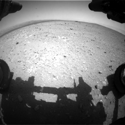 Nasa's Mars rover Curiosity acquired this image using its Front Hazard Avoidance Camera (Front Hazcam) on Sol 385, at drive 558, site number 15