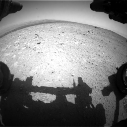 Nasa's Mars rover Curiosity acquired this image using its Front Hazard Avoidance Camera (Front Hazcam) on Sol 385, at drive 594, site number 15