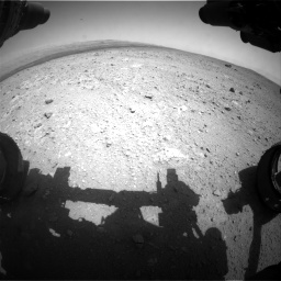 Nasa's Mars rover Curiosity acquired this image using its Front Hazard Avoidance Camera (Front Hazcam) on Sol 385, at drive 612, site number 15