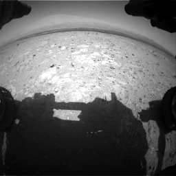Nasa's Mars rover Curiosity acquired this image using its Front Hazard Avoidance Camera (Front Hazcam) on Sol 385, at drive 648, site number 15