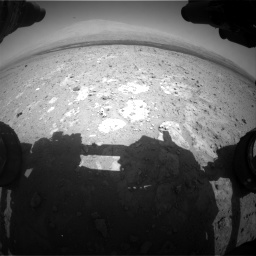 Nasa's Mars rover Curiosity acquired this image using its Front Hazard Avoidance Camera (Front Hazcam) on Sol 385, at drive 666, site number 15