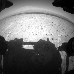 Nasa's Mars rover Curiosity acquired this image using its Front Hazard Avoidance Camera (Front Hazcam) on Sol 385, at drive 684, site number 15
