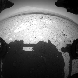 Nasa's Mars rover Curiosity acquired this image using its Front Hazard Avoidance Camera (Front Hazcam) on Sol 385, at drive 702, site number 15