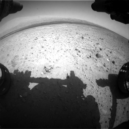 Nasa's Mars rover Curiosity acquired this image using its Front Hazard Avoidance Camera (Front Hazcam) on Sol 385, at drive 756, site number 15