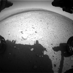 Nasa's Mars rover Curiosity acquired this image using its Front Hazard Avoidance Camera (Front Hazcam) on Sol 385, at drive 810, site number 15
