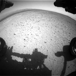 Nasa's Mars rover Curiosity acquired this image using its Front Hazard Avoidance Camera (Front Hazcam) on Sol 385, at drive 828, site number 15