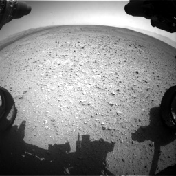 Nasa's Mars rover Curiosity acquired this image using its Front Hazard Avoidance Camera (Front Hazcam) on Sol 385, at drive 846, site number 15