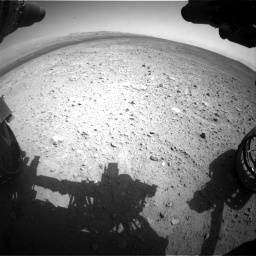 Nasa's Mars rover Curiosity acquired this image using its Front Hazard Avoidance Camera (Front Hazcam) on Sol 385, at drive 864, site number 15