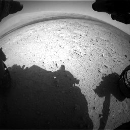 Nasa's Mars rover Curiosity acquired this image using its Front Hazard Avoidance Camera (Front Hazcam) on Sol 385, at drive 882, site number 15