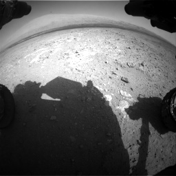 Nasa's Mars rover Curiosity acquired this image using its Front Hazard Avoidance Camera (Front Hazcam) on Sol 385, at drive 918, site number 15