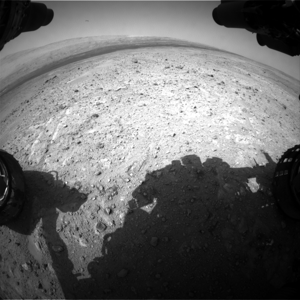 Nasa's Mars rover Curiosity acquired this image using its Front Hazard Avoidance Camera (Front Hazcam) on Sol 386, at drive 998, site number 15