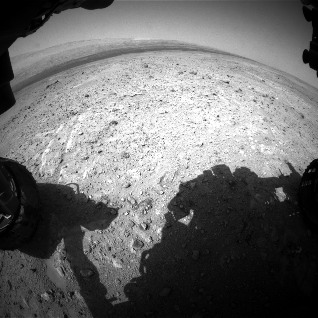 Nasa's Mars rover Curiosity acquired this image using its Front Hazard Avoidance Camera (Front Hazcam) on Sol 387, at drive 998, site number 15