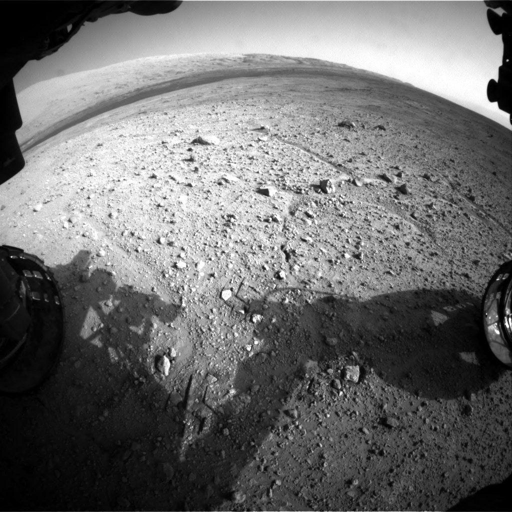 NASA's Mars rover Curiosity acquired this image using its Front Hazard Avoidance Cameras (Front Hazcams) on Sol 388