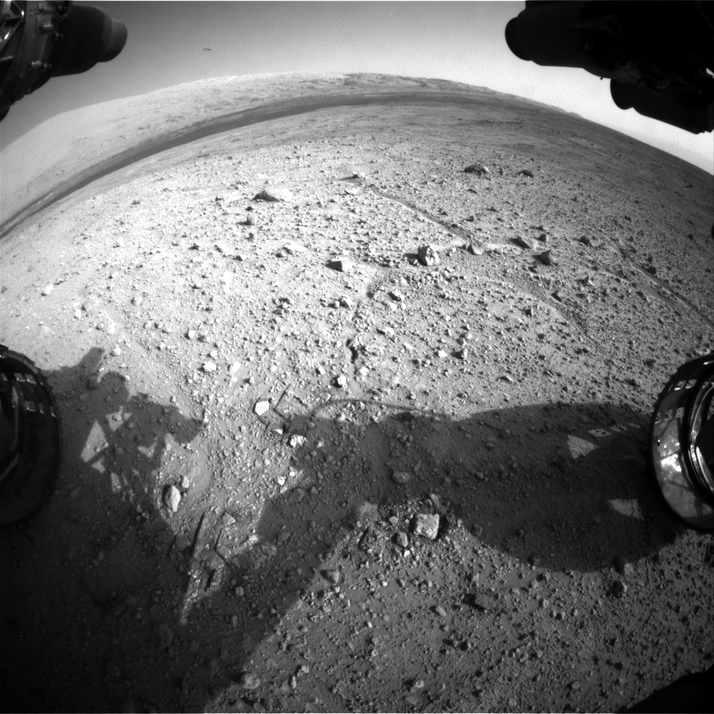 Nasa's Mars rover Curiosity acquired this image using its Front Hazard Avoidance Camera (Front Hazcam) on Sol 388, at drive 1230, site number 15