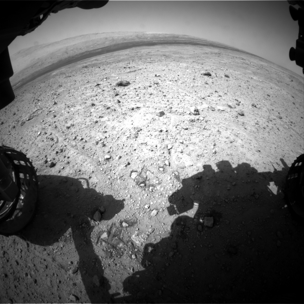 NASA's Mars rover Curiosity acquired this image using its Front Hazard Avoidance Cameras (Front Hazcams) on Sol 389