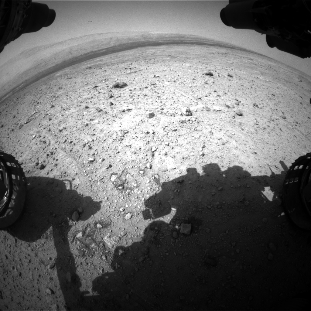 Nasa's Mars rover Curiosity acquired this image using its Front Hazard Avoidance Camera (Front Hazcam) on Sol 389, at drive 1230, site number 15