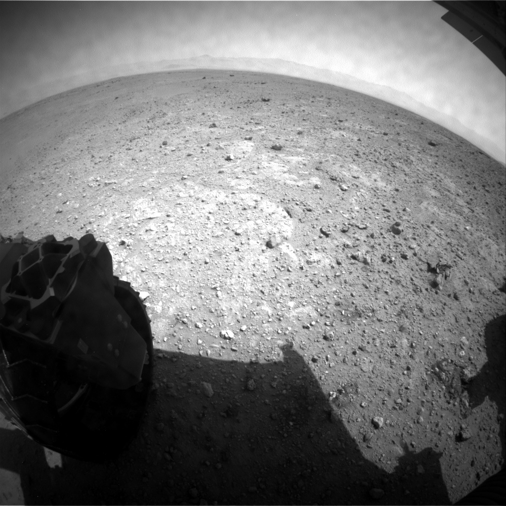 NASA's Mars rover Curiosity acquired this image using its Rear Hazard Avoidance Cameras (Rear Hazcams) on Sol 389