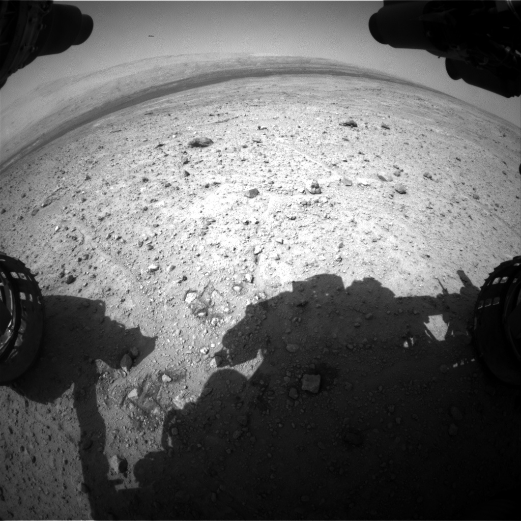 Nasa's Mars rover Curiosity acquired this image using its Front Hazard Avoidance Camera (Front Hazcam) on Sol 390, at drive 1230, site number 15