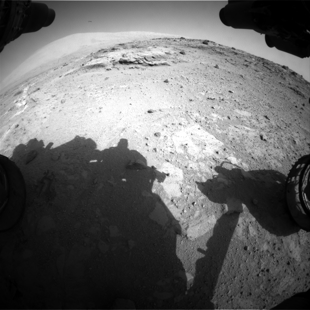 Nasa's Mars rover Curiosity acquired this image using its Front Hazard Avoidance Camera (Front Hazcam) on Sol 390, at drive 0, site number 16