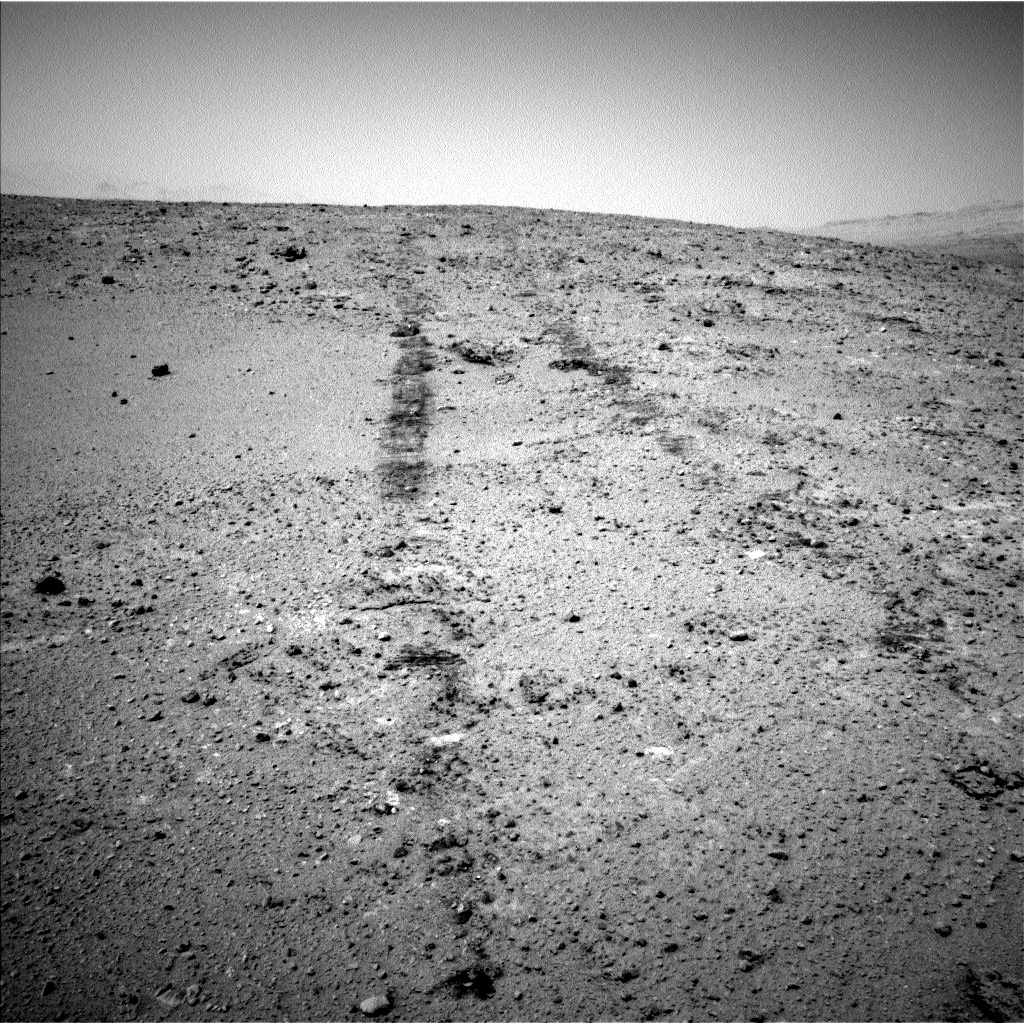 Nasa's Mars rover Curiosity acquired this image using its Left Navigation Camera on Sol 390, at drive 1458, site number 15