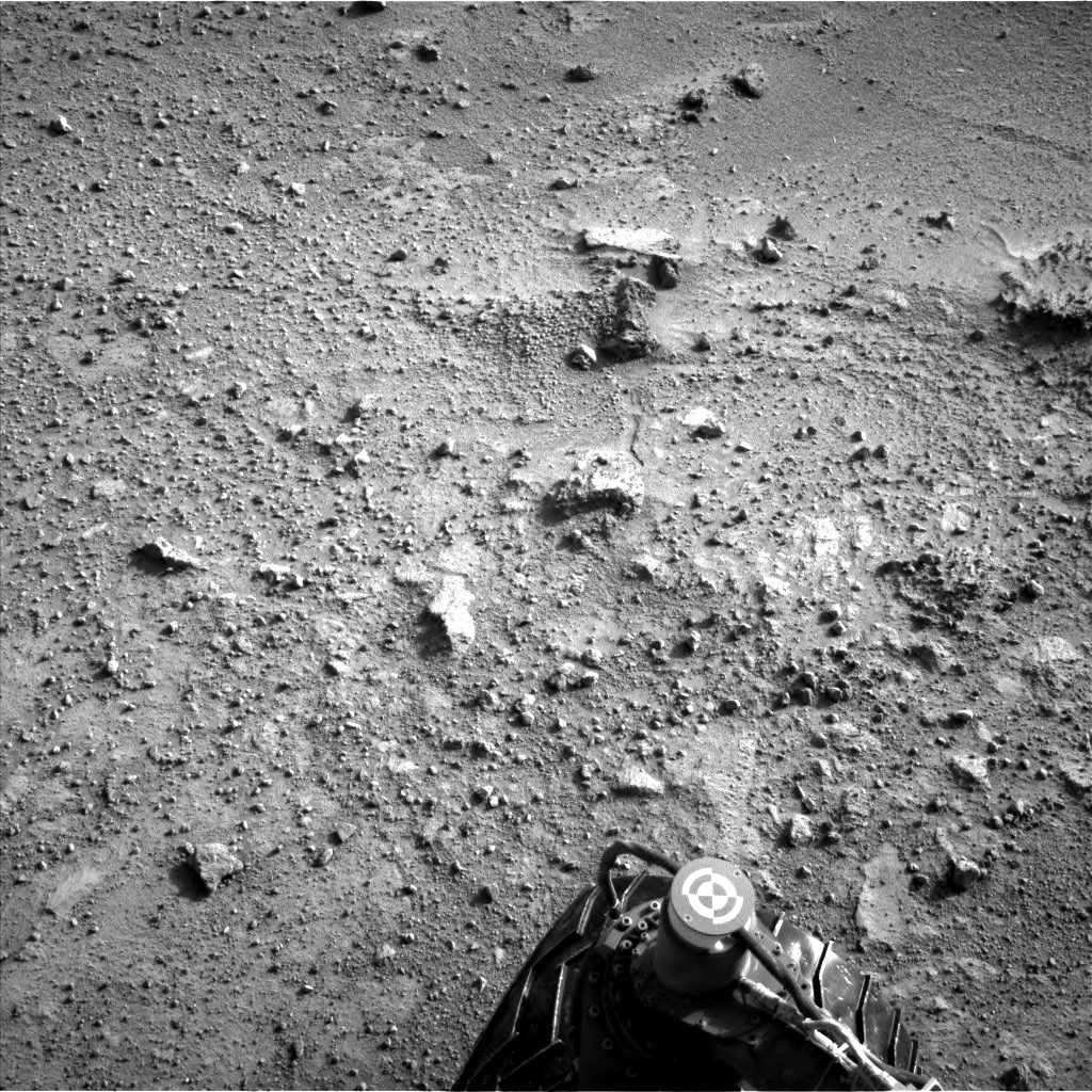 Nasa's Mars rover Curiosity acquired this image using its Left Navigation Camera on Sol 390, at drive 0, site number 16