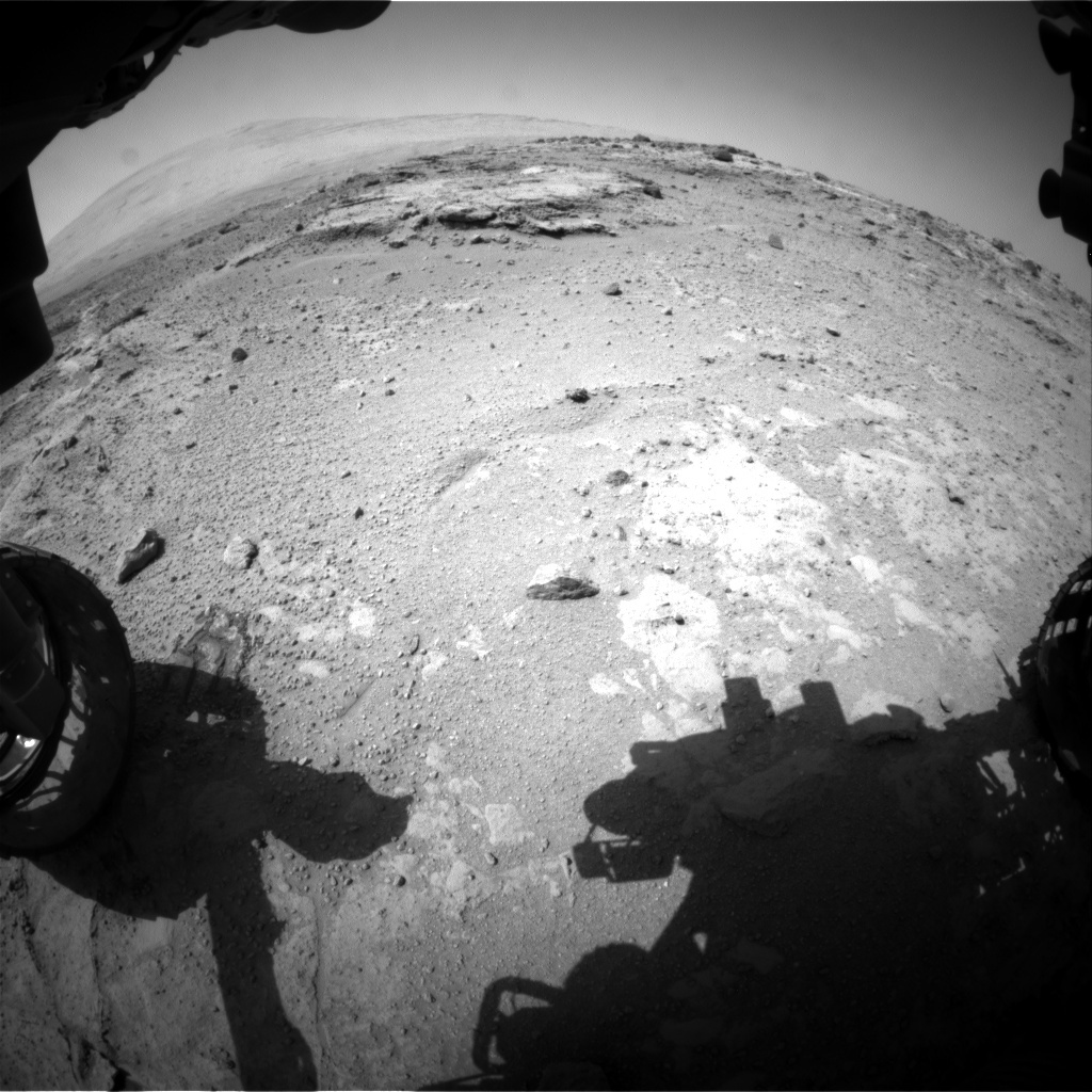 NASA's Mars rover Curiosity acquired this image using its Front Hazard Avoidance Cameras (Front Hazcams) on Sol 391