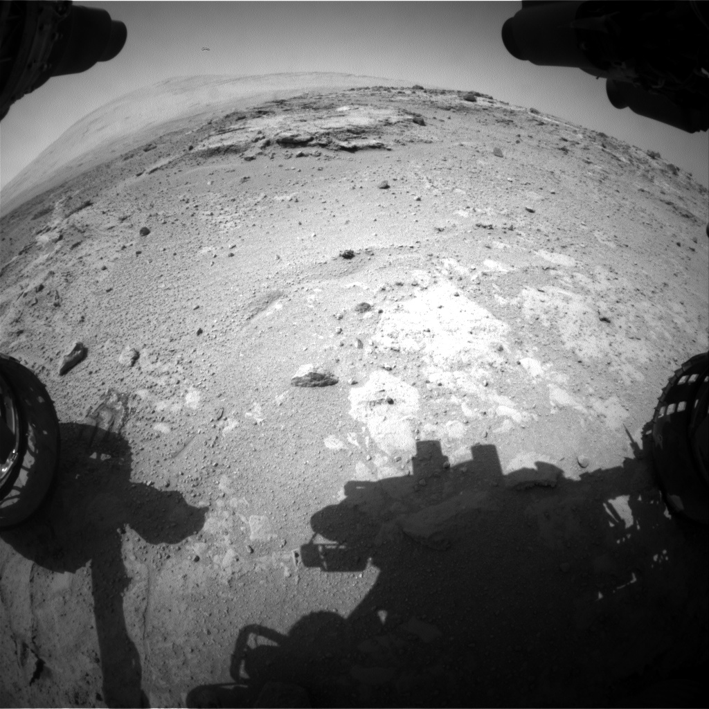 Nasa's Mars rover Curiosity acquired this image using its Front Hazard Avoidance Camera (Front Hazcam) on Sol 391, at drive 0, site number 16