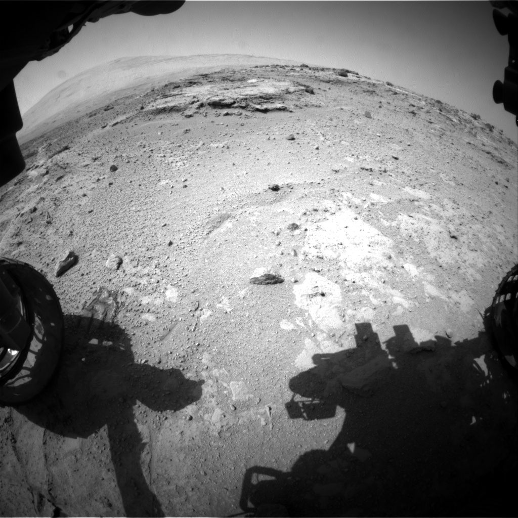 Nasa's Mars rover Curiosity acquired this image using its Front Hazard Avoidance Camera (Front Hazcam) on Sol 392, at drive 0, site number 16