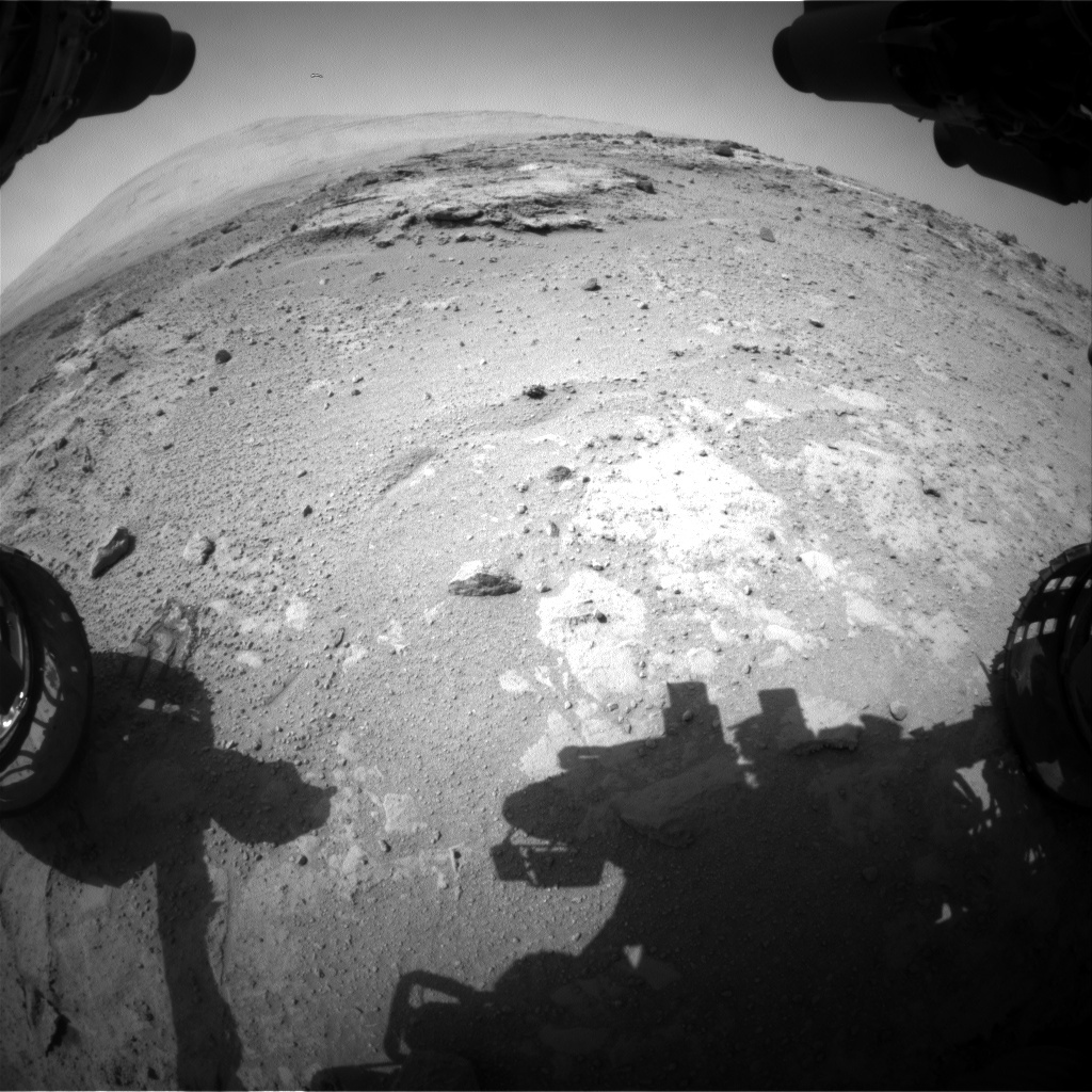 NASA's Mars rover Curiosity acquired this image using its Front Hazard Avoidance Cameras (Front Hazcams) on Sol 392