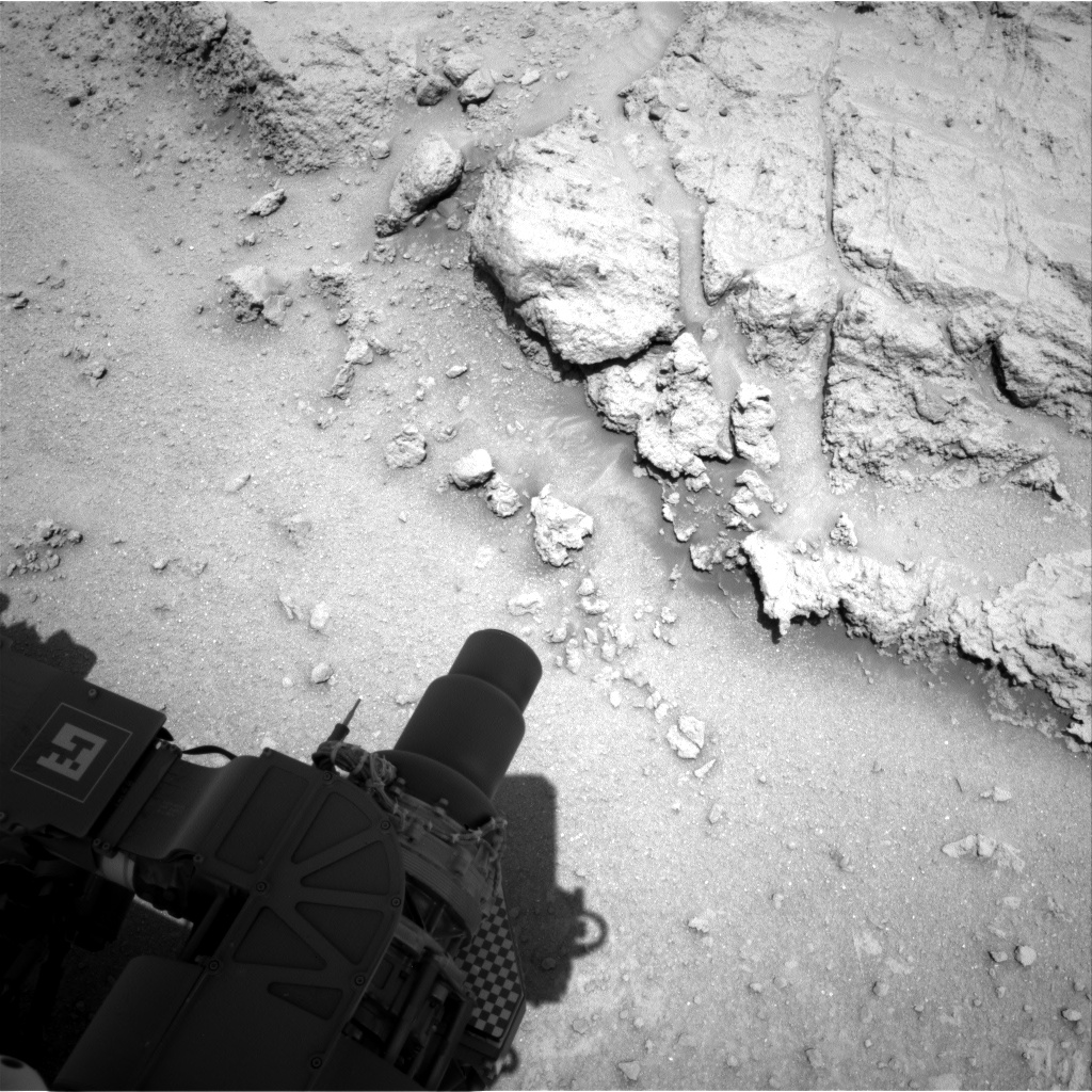 Nasa's Mars rover Curiosity acquired this image using its Right Navigation Camera on Sol 392, at drive 50, site number 16