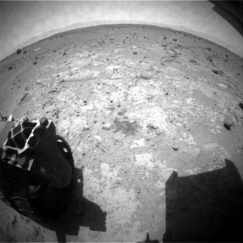 NASA's Mars rover Curiosity acquired this image using its Rear Hazard Avoidance Cameras (Rear Hazcams) on Sol 392