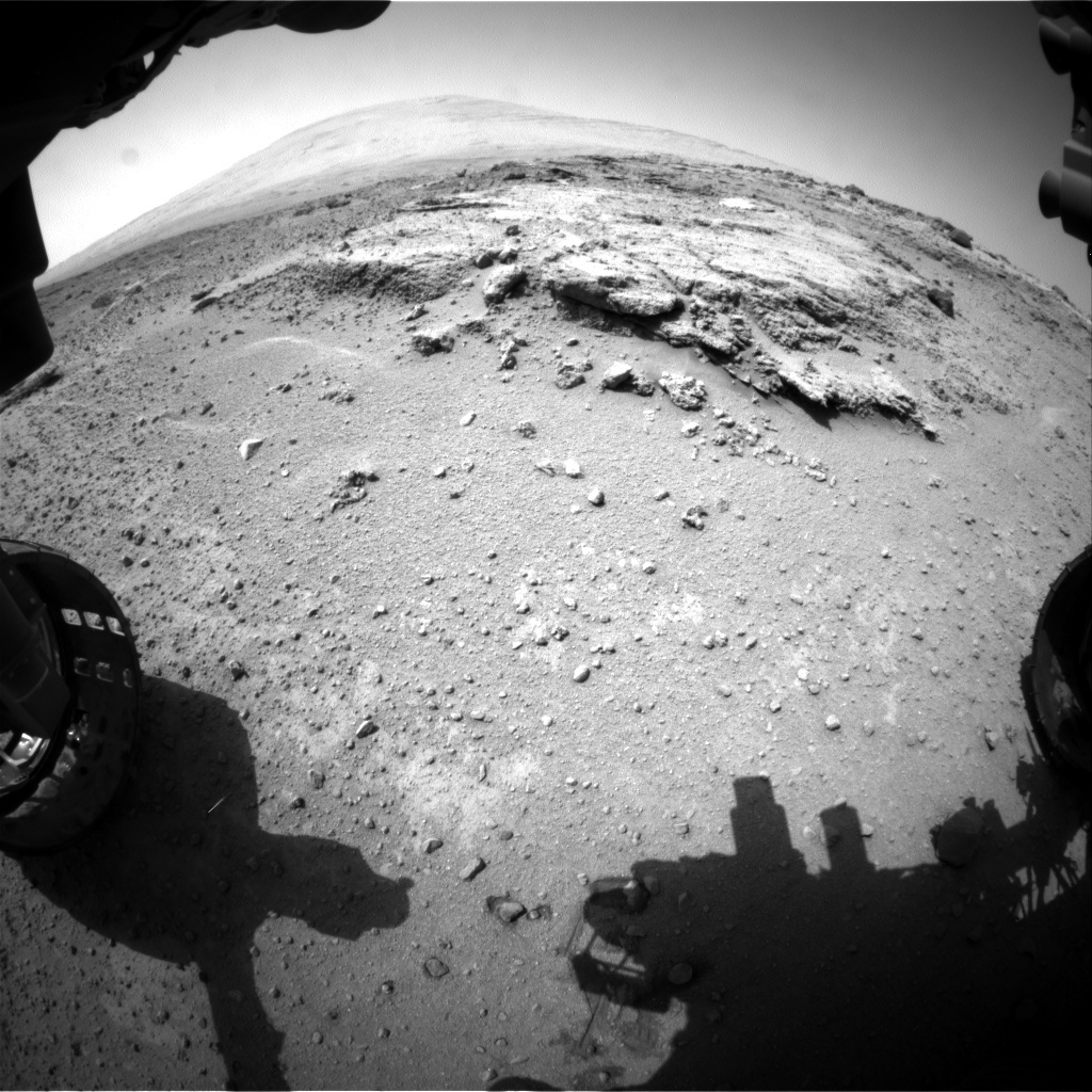 NASA's Mars rover Curiosity acquired this image using its Front Hazard Avoidance Cameras (Front Hazcams) on Sol 394
