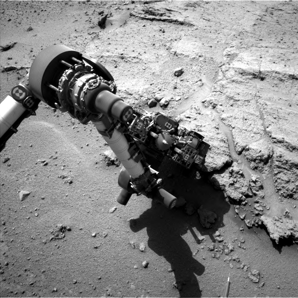 NASA's Mars rover Curiosity acquired this image using its Left Navigation Camera (Navcams) on Sol 394