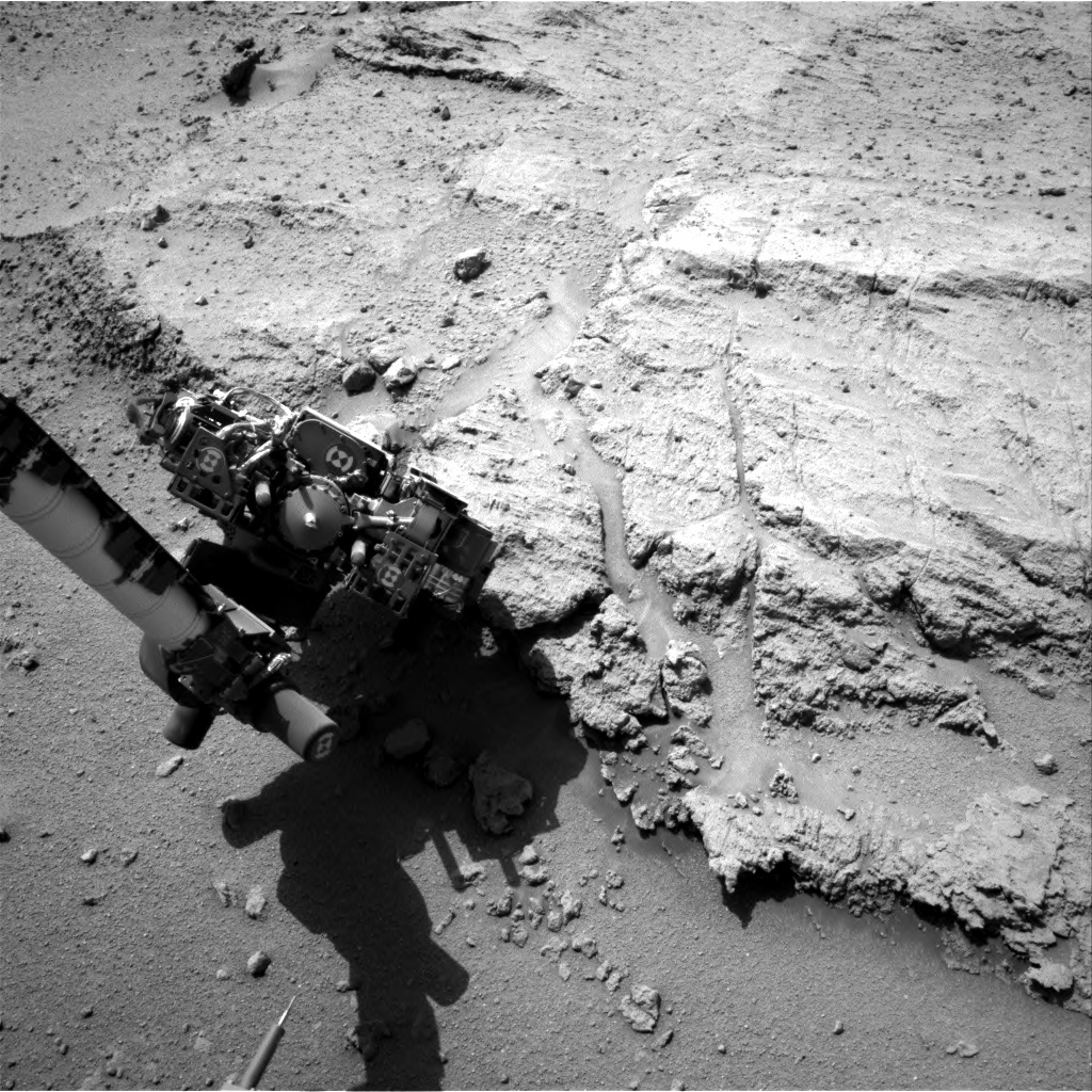 NASA's Mars rover Curiosity acquired this image using its Right Navigation Cameras (Navcams) on Sol 394