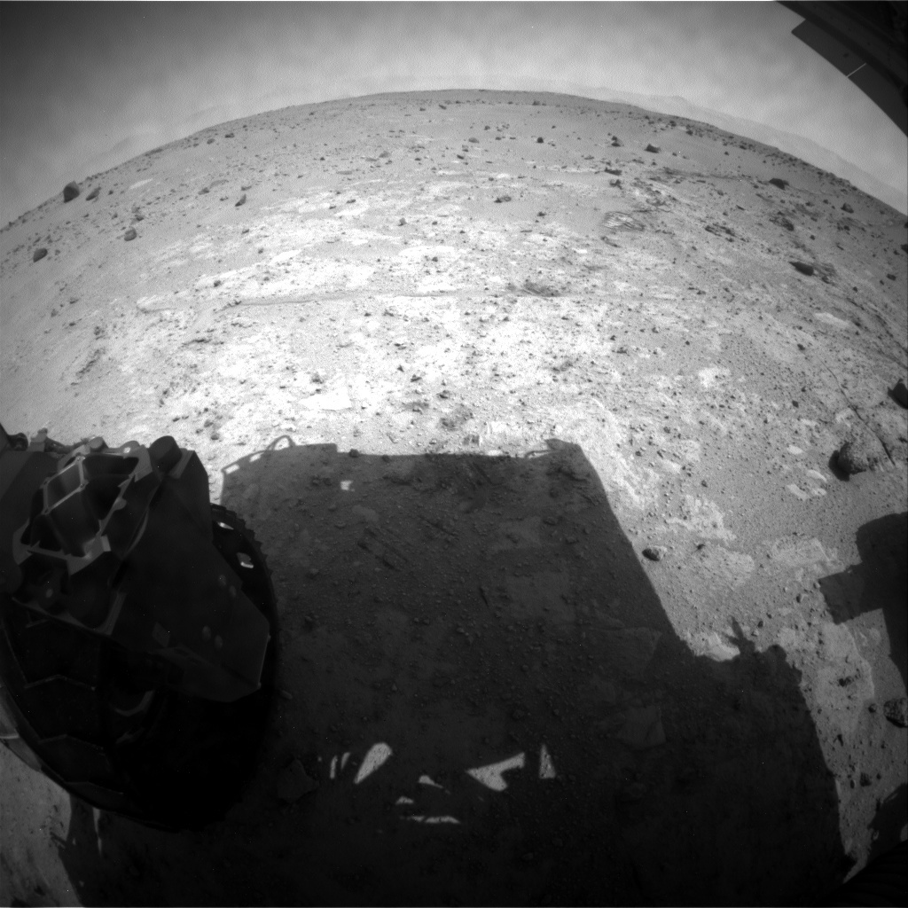 NASA's Mars rover Curiosity acquired this image using its Rear Hazard Avoidance Cameras (Rear Hazcams) on Sol 394