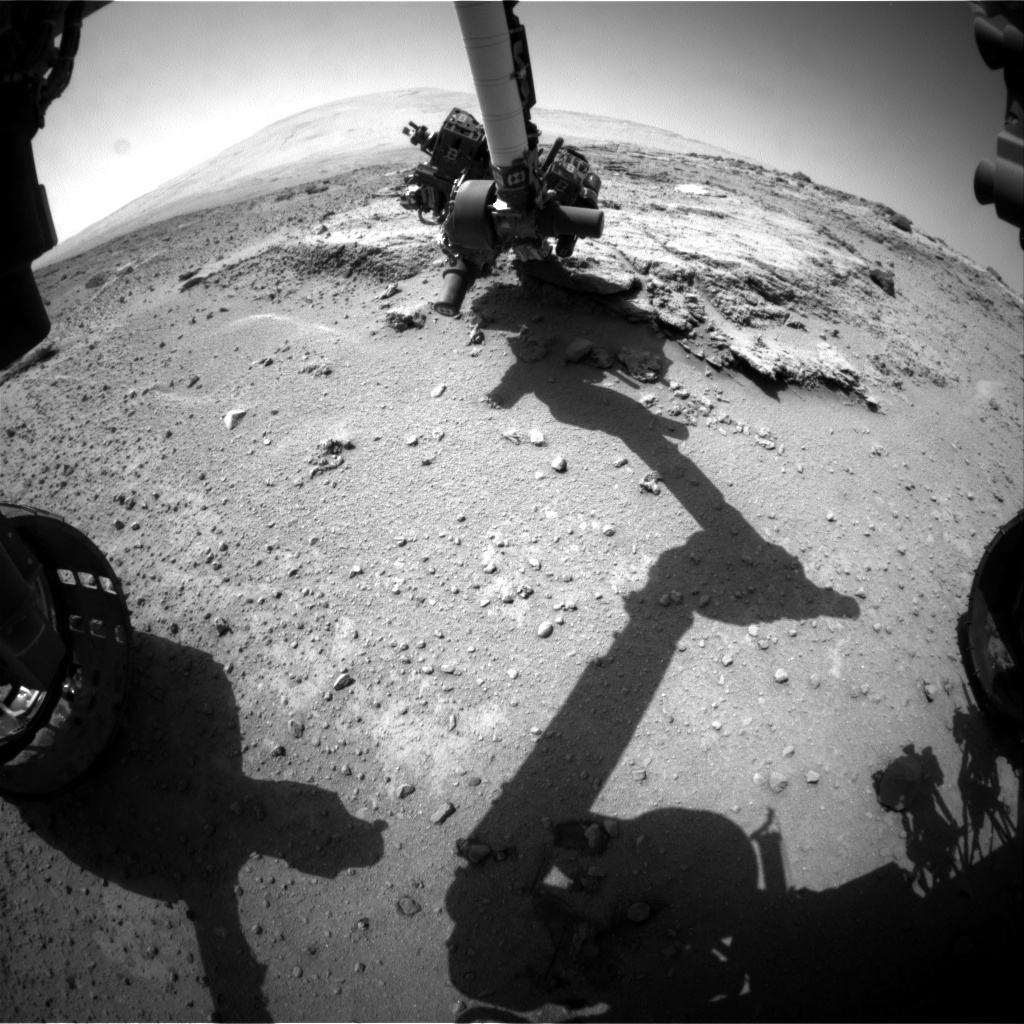 NASA's Mars rover Curiosity acquired this image using its Front Hazard Avoidance Cameras (Front Hazcams) on Sol 395