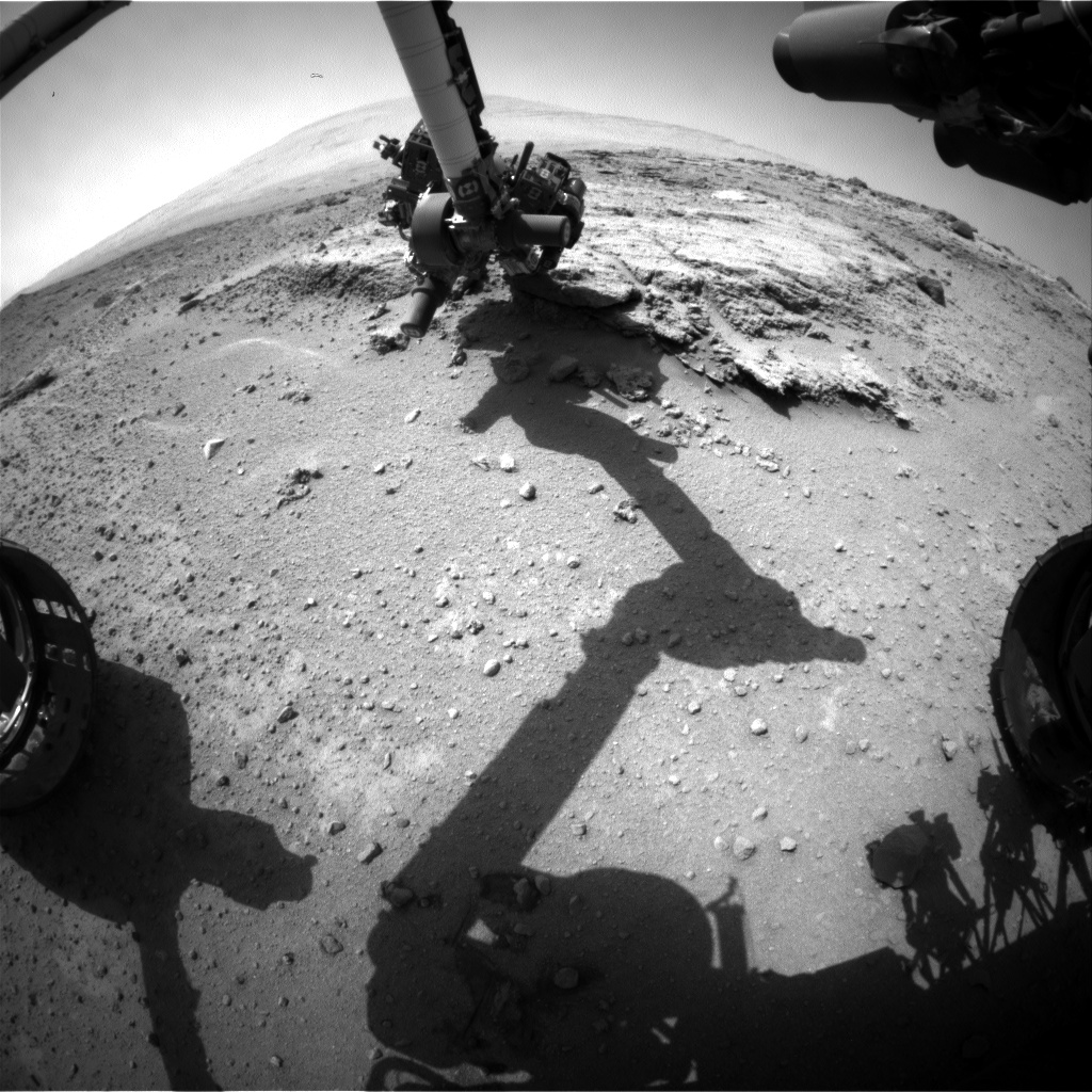 Nasa's Mars rover Curiosity acquired this image using its Front Hazard Avoidance Camera (Front Hazcam) on Sol 395, at drive 50, site number 16