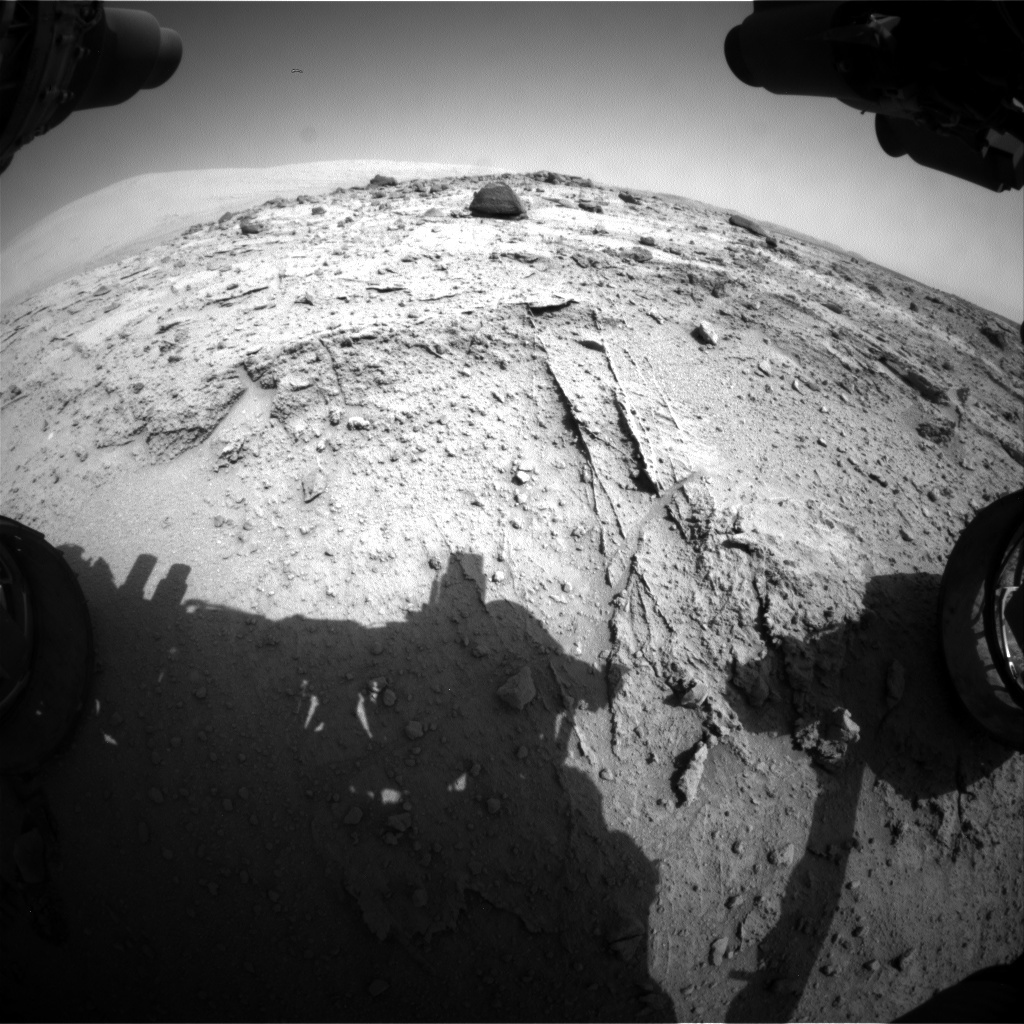 NASA's Mars rover Curiosity acquired this image using its Front Hazard Avoidance Cameras (Front Hazcams) on Sol 396