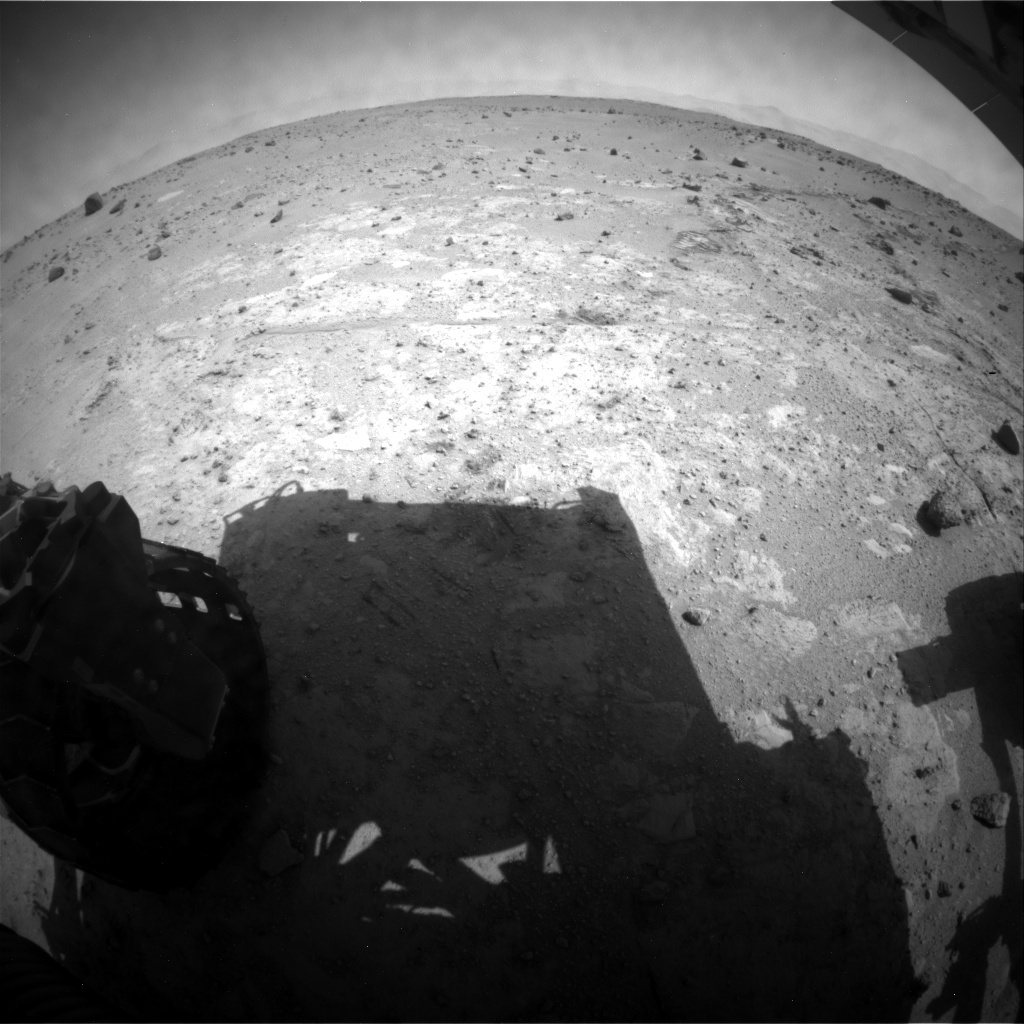 NASA's Mars rover Curiosity acquired this image using its Rear Hazard Avoidance Cameras (Rear Hazcams) on Sol 396
