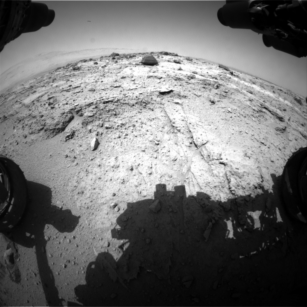 Nasa's Mars rover Curiosity acquired this image using its Front Hazard Avoidance Camera (Front Hazcam) on Sol 397, at drive 148, site number 16