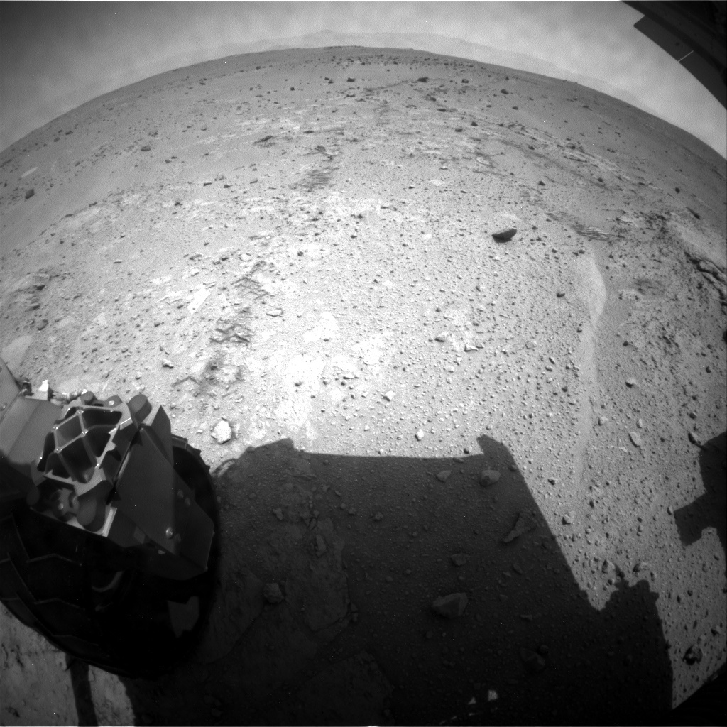 NASA's Mars rover Curiosity acquired this image using its Rear Hazard Avoidance Cameras (Rear Hazcams) on Sol 397
