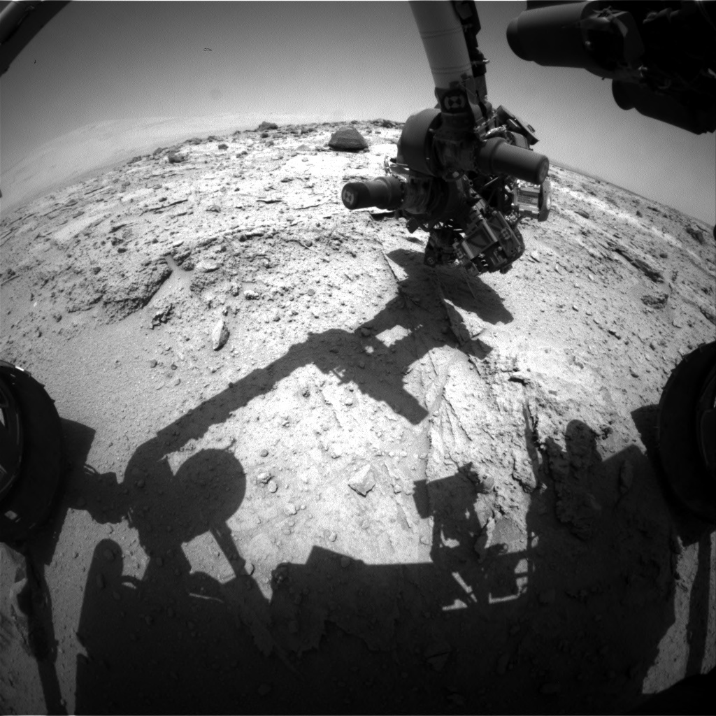NASA's Mars rover Curiosity acquired this image using its Front Hazard Avoidance Cameras (Front Hazcams) on Sol 398