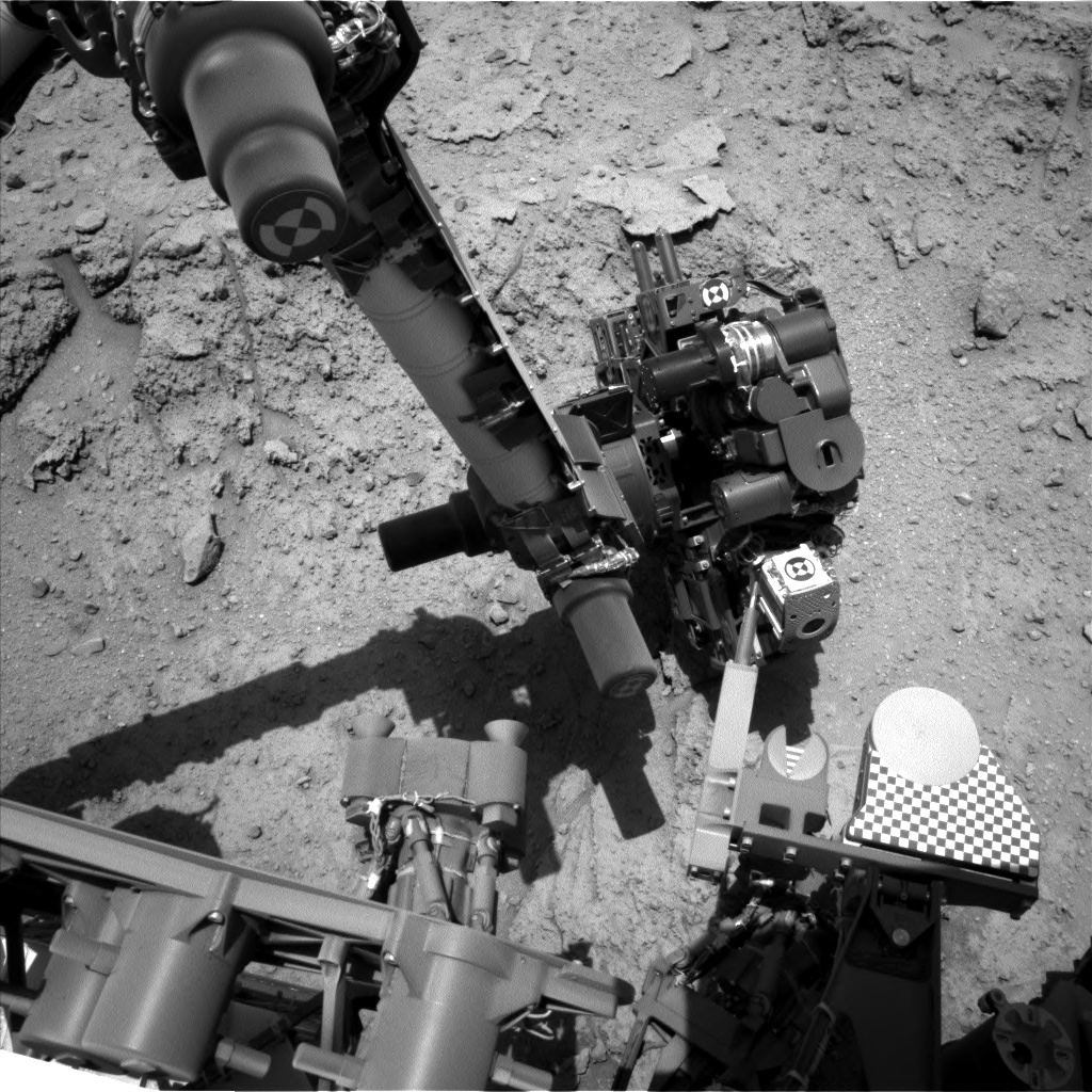NASA's Mars rover Curiosity acquired this image using its Left Navigation Camera (Navcams) on Sol 398