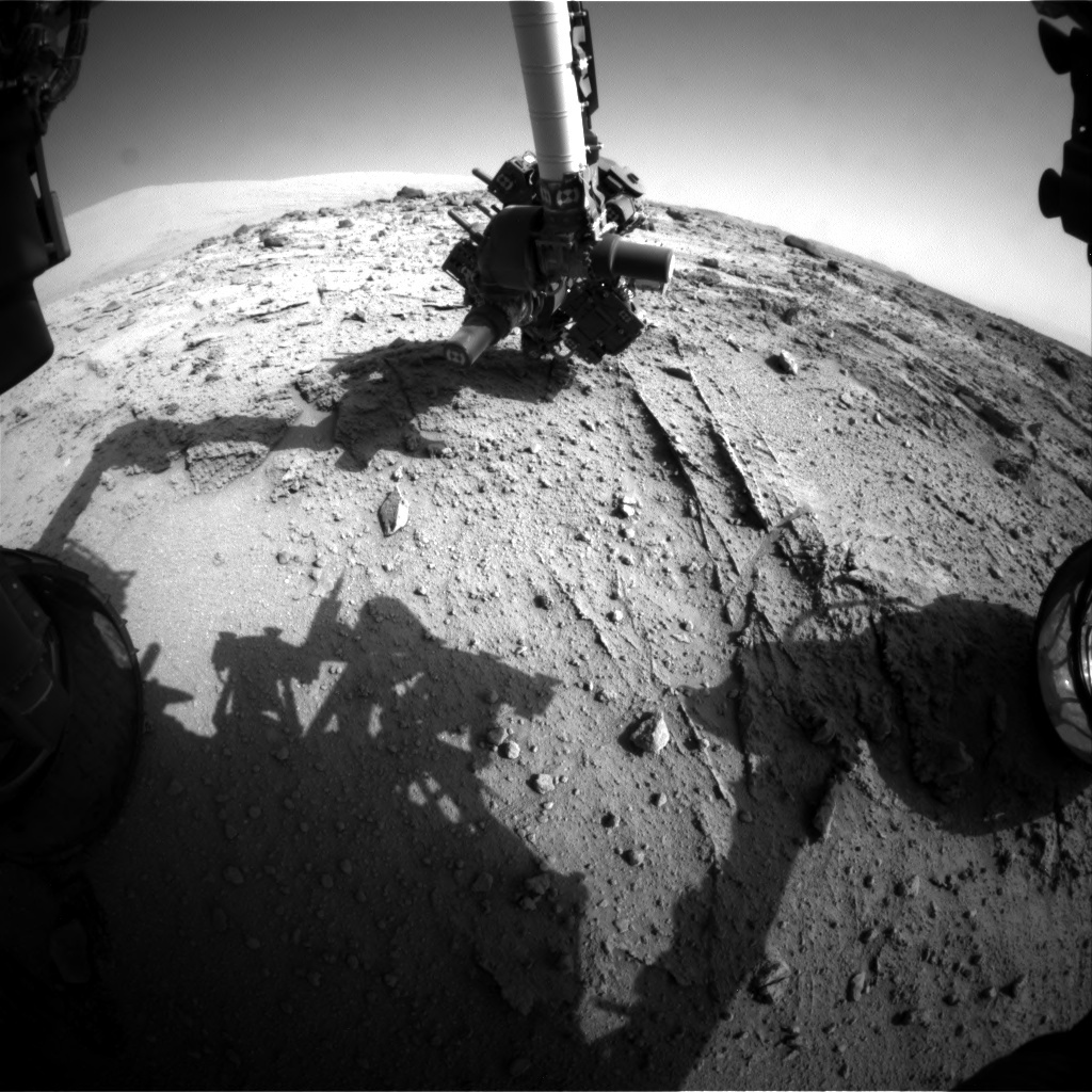 NASA's Mars rover Curiosity acquired this image using its Front Hazard Avoidance Cameras (Front Hazcams) on Sol 399