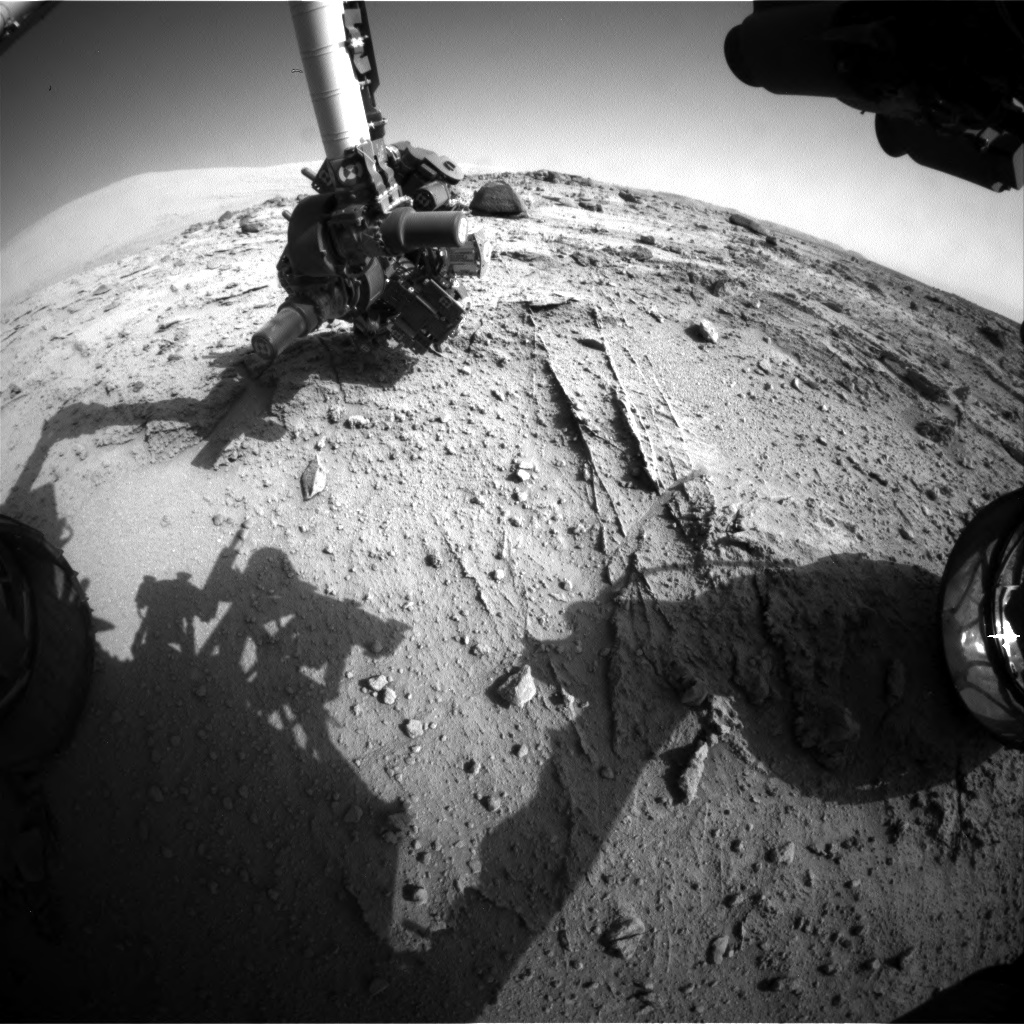 Nasa's Mars rover Curiosity acquired this image using its Front Hazard Avoidance Camera (Front Hazcam) on Sol 399, at drive 148, site number 16