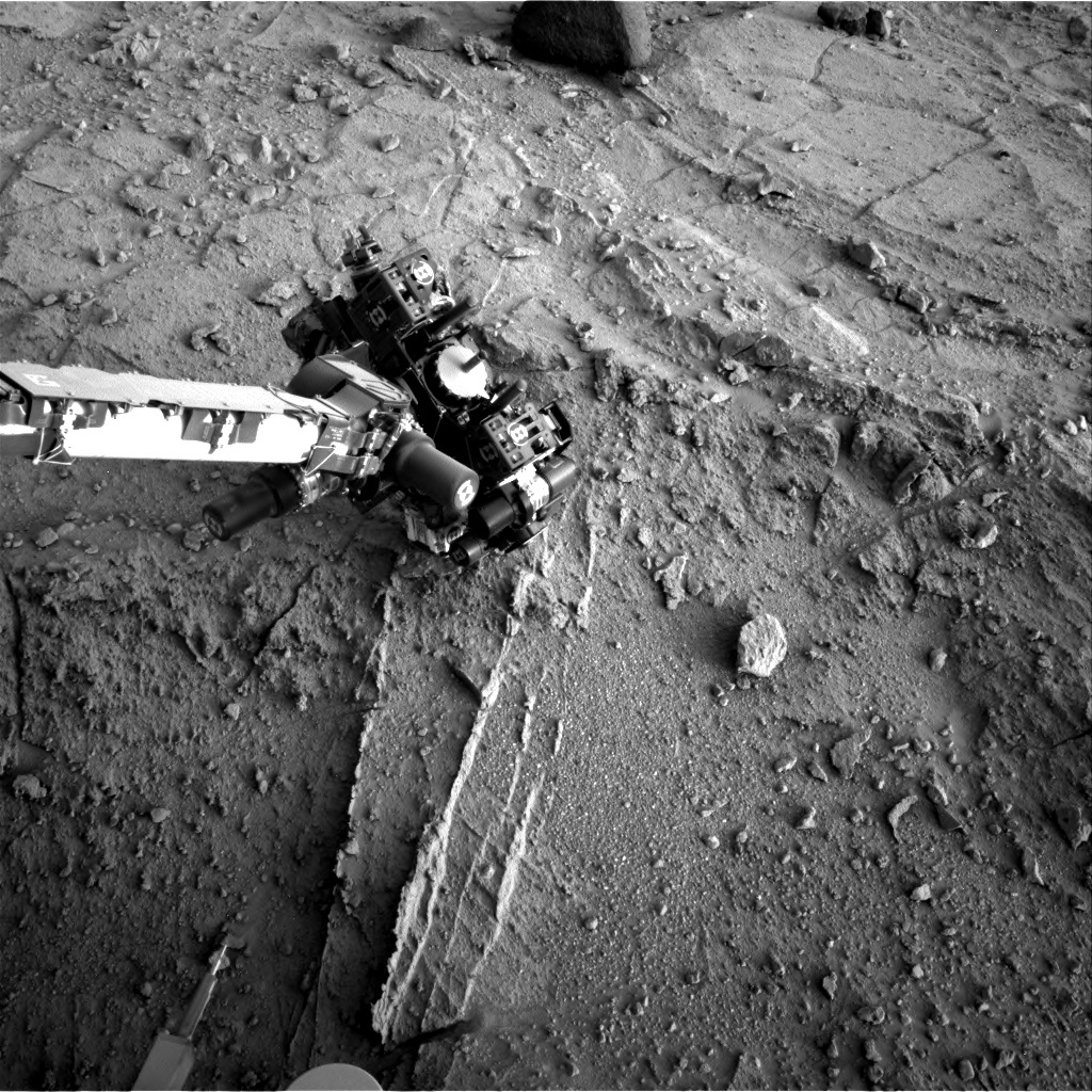 NASA's Mars rover Curiosity acquired this image using its Right Navigation Cameras (Navcams) on Sol 399