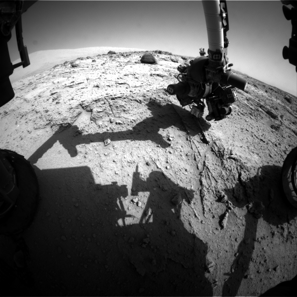 NASA's Mars rover Curiosity acquired this image using its Front Hazard Avoidance Cameras (Front Hazcams) on Sol 400